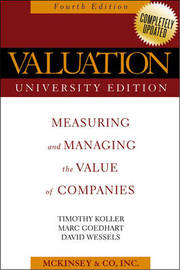 Valuation: Measuring and Managing the Value of Companies by McKinsey & Company image