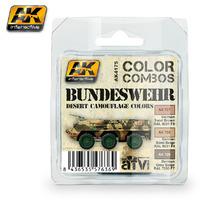 AK Bundeswehr Desert Camouflage Colours Paint Set