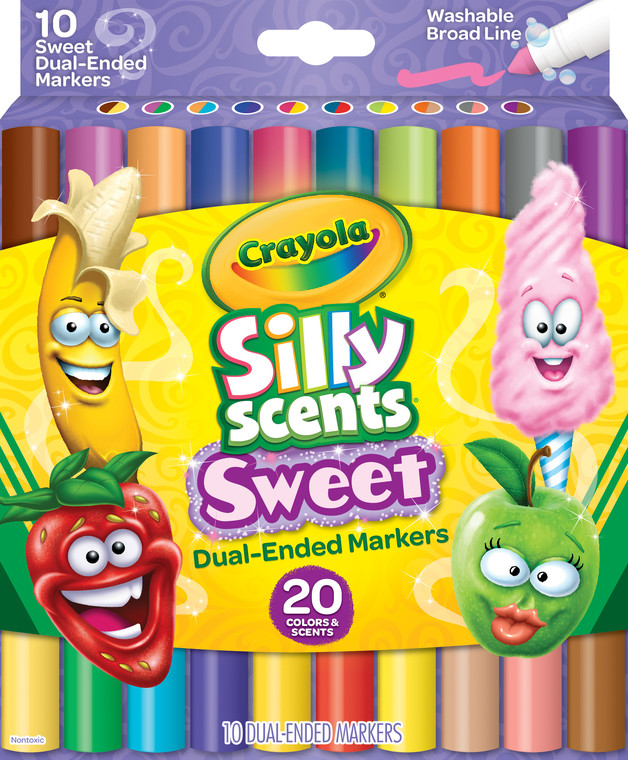 Crayola: Silly Scents Dual Ended Markers - 10 Pack