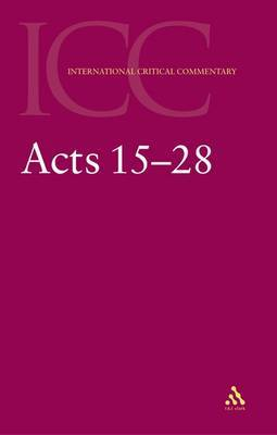 Acts 15-25 by C.K. Barrett