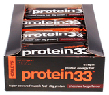 Horleys Protein 33 Bars - Chocolate Fudge (12 x 60g Pack)