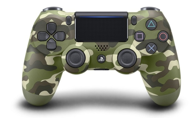 PlayStation 4 Dual Shock 4 v2 Wireless Controller - Green Camouflage for PS4