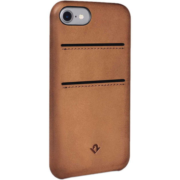Twelve South Relaxed Leather case w/pockets for iPhone 7/6/6S (Cognac)