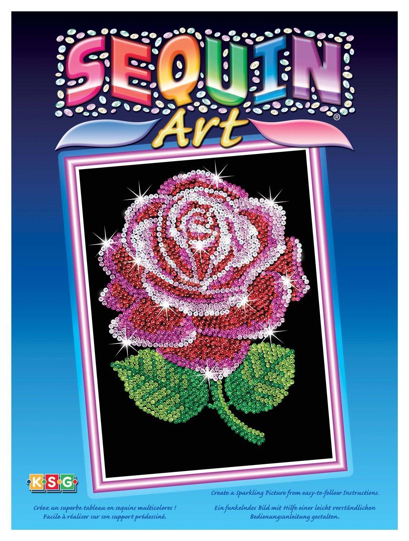 Sequin Art - Rose image