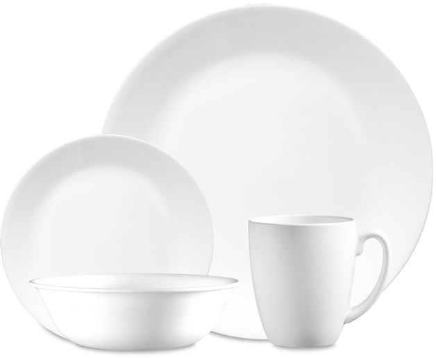 Corelle Livingware: 16 Piece Dinner Set - Winter Frost White