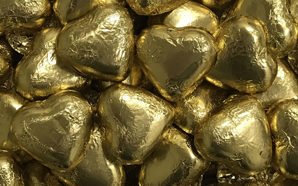 Milk Chocolate Hearts - Gold