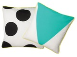 General Eclectic Cushion (Black Dot & Green Triangle)