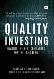 Quality Investing by Lawrence A Cunningham