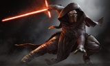 Star Wars: Episode VII The Force Awakens - Kylo Ren Crouching Wall Poster (307)