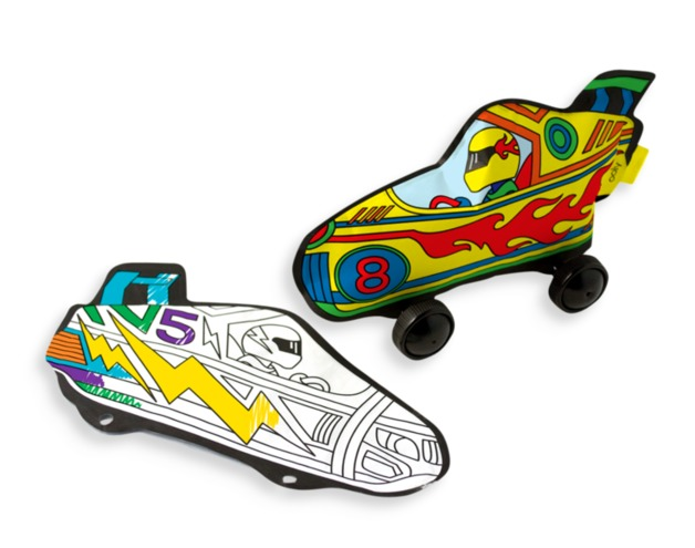 Ooly: 3D Colorables Activity Kit - Radical Race Cars