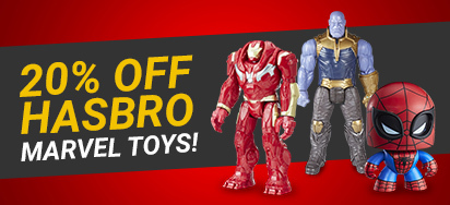 20% off Hasbro Marvel Toys!