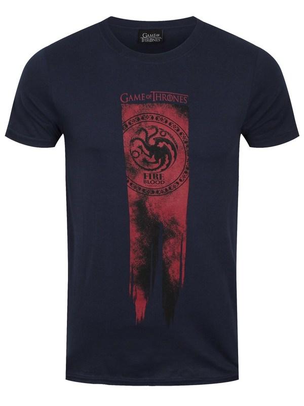 Game of Thrones: Targaryen Flag - Fire & Blood T Shirt (XL)