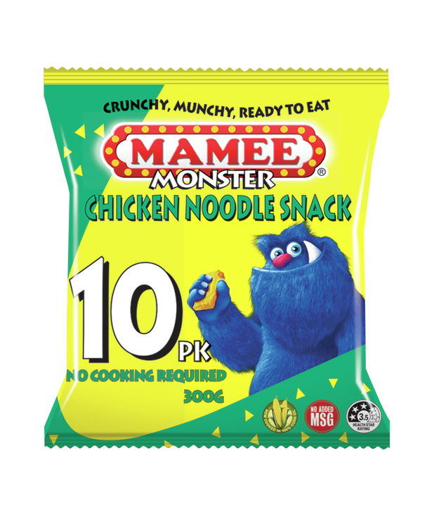 Mamee Noodle Snacks Chicken 30g (10 Pack)