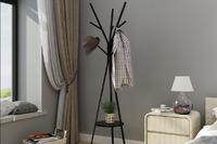 Ovela: 9 Hook Coat Hanger Stand - Black