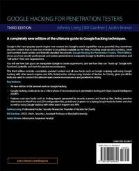 Google Hacking for Penetration Testers by Johnny Long
