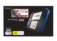 Nintendo 2DS with Mario Kart 7 (Black/Blue) for Nintendo 3DS