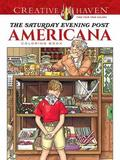 Creative Haven the Saturday Evening Post Americana Coloring Book by Marty Noble