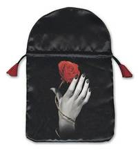 Rose in Hand Satin Tarot Bag by Lo Scarabeo