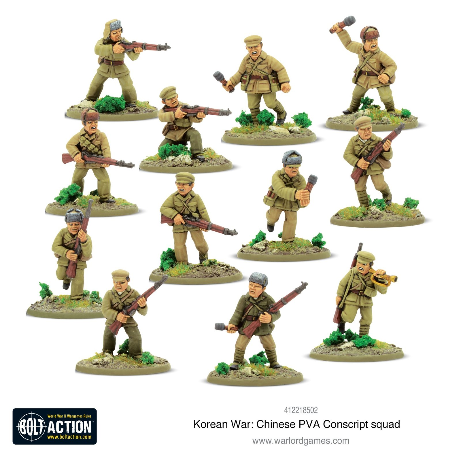Bolt Action: Chinese PVA Conscript Squad image