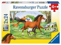 Ravensburger World of Horses Puzzle (2 x 24pc)