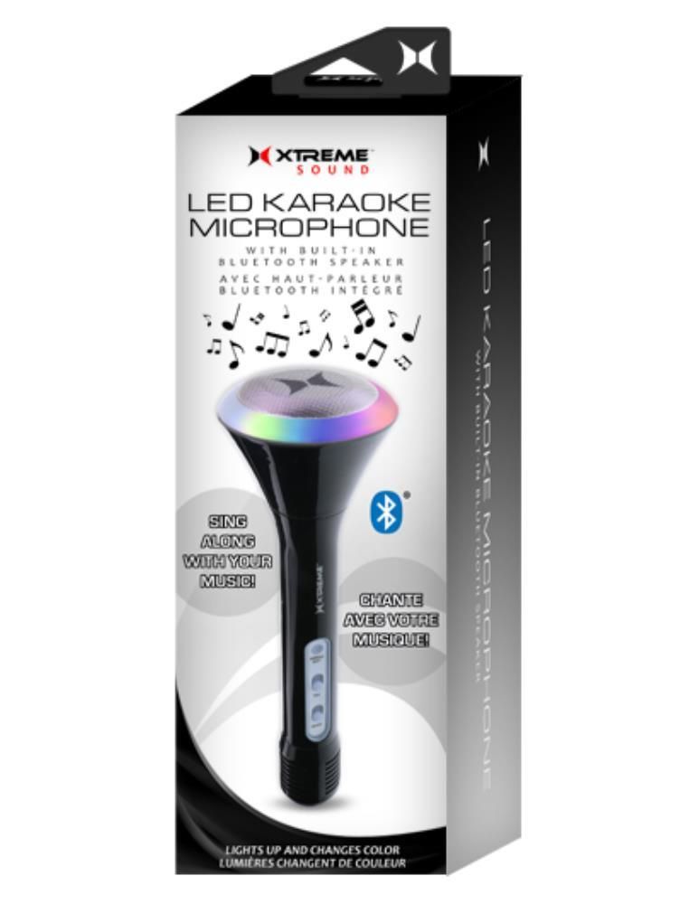 Xtreme: Karaoke Microphone w Bluetooth & LEDs image