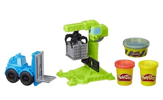 Play-Doh: Wheels - Crane & Forklift Playset