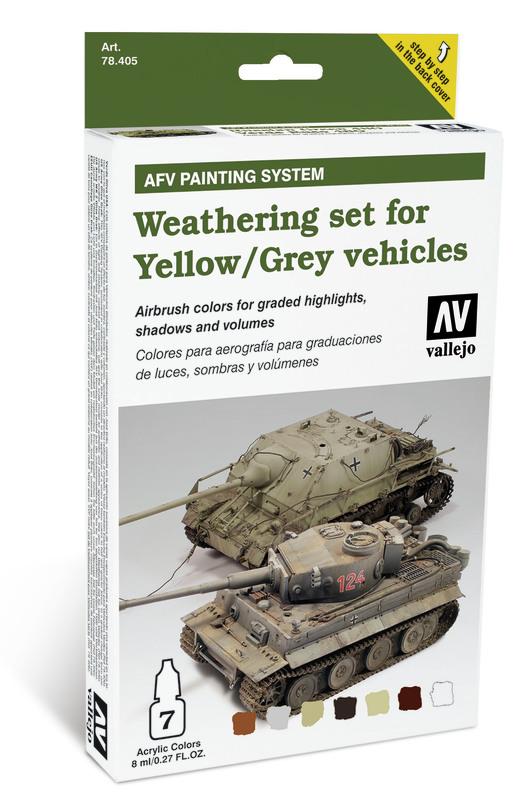 Vallejo Weathering Yellow & Grey Vehicles Set