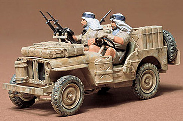 Tamiya British S.A.S. Jeep 1:35 Model Kit image