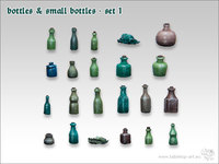 Tabletop-Art: Bottles & Small Bottles #1 - Parts Set