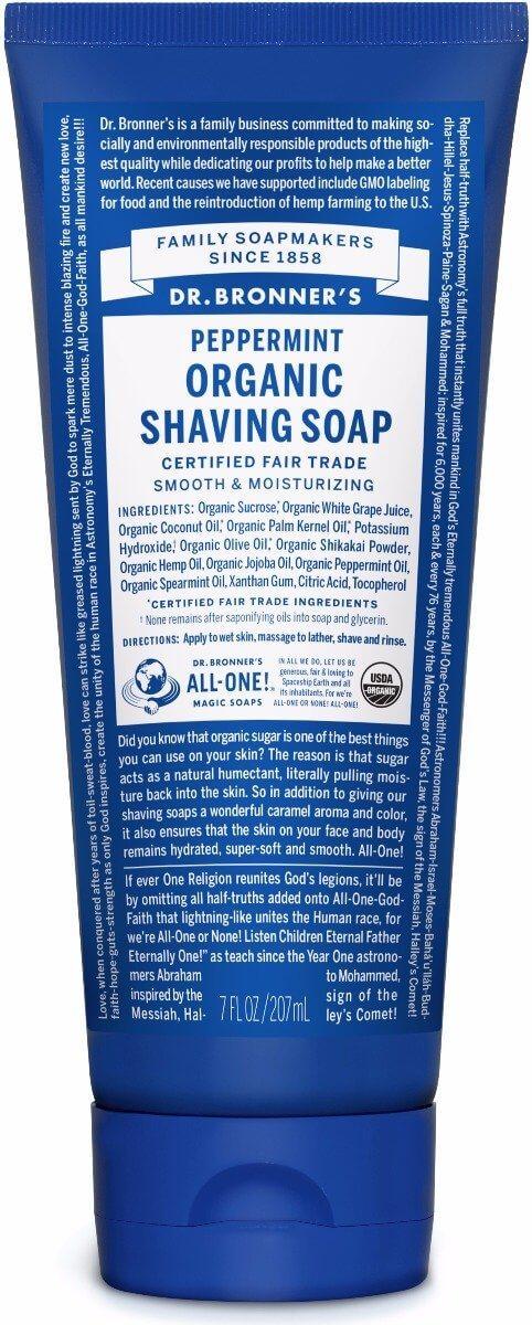 Dr Bronner's - Peppermint Organic Shaving Soap (208ml) image