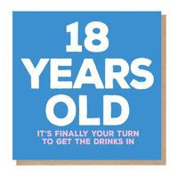Mixed Messages: 18 Years Old Birthday Card image