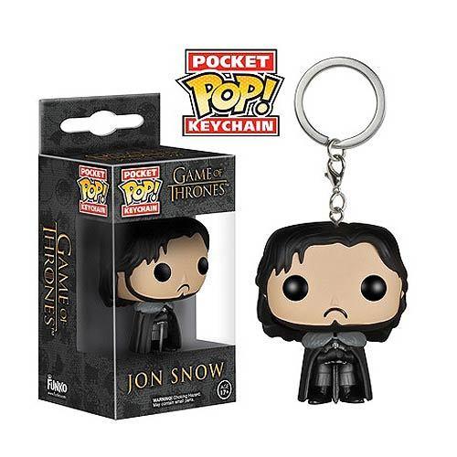 Game of Thrones Jon Snow Pop! Keychain image