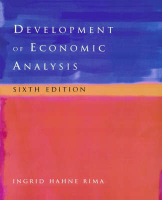 Development of Economic Analysis by Ingrid H. Rima image