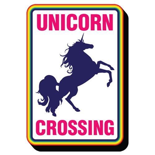 Unicorn Crossing - Funky Chunky Magnet image