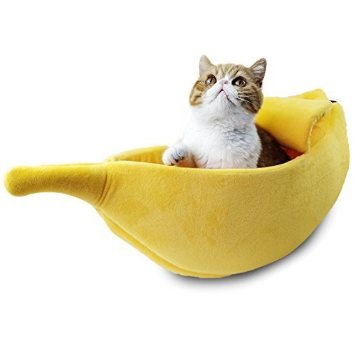 Purrnana Cute Banana Cat Bed (Large)