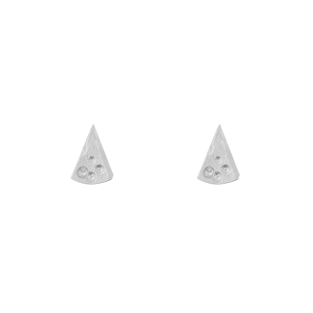 Short Story: Earring Cheese Silver image