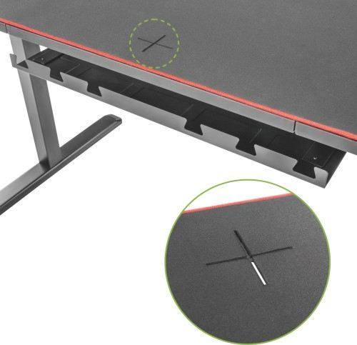 Lumi Manual Height Adjustable Gaming Desk for  image