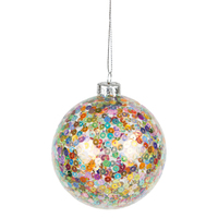 Multi-Colour Glass Bauble