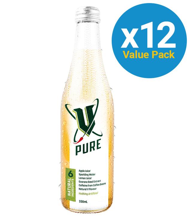 V Pure Bottles 330ml 12pk