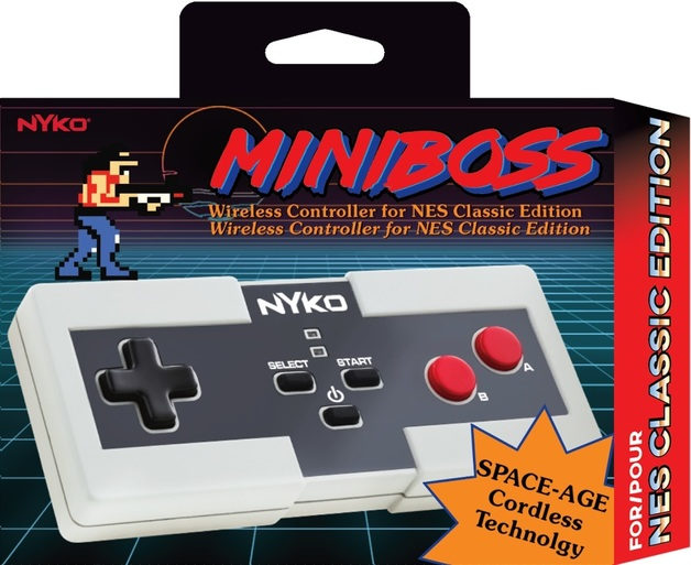 Nyko Miniboss Wireless Controller for NES Classic Edition for Wii U