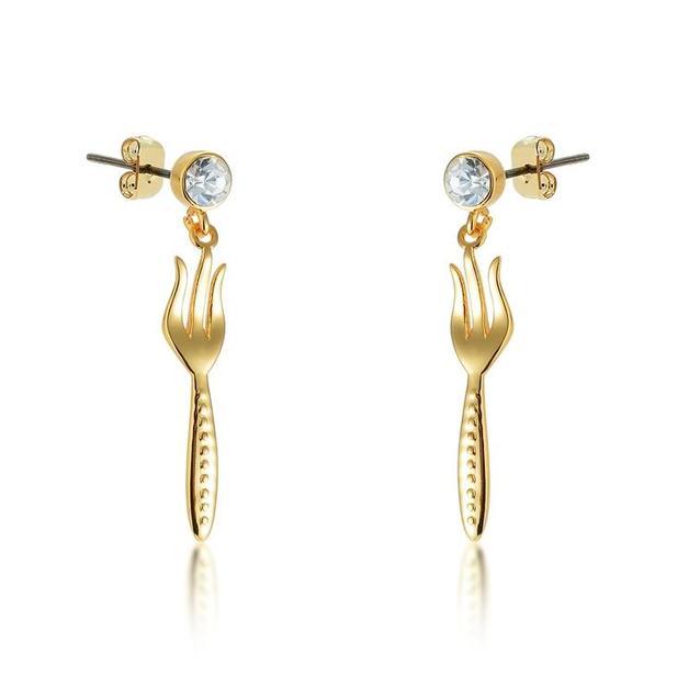 Disney: Princess Ariel Dinglehopper Earrings - Yellow Gold