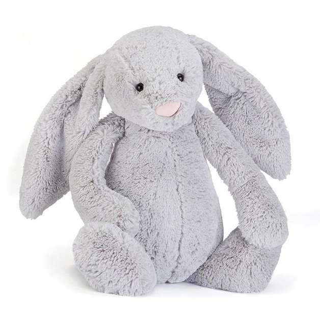 Jellycat Bashful Bunny - Silver ~ Really Big