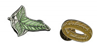 Lord of the Rings: Designer Pin Set - Elven Leaf & One Ring