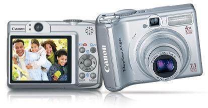 Canon A560 7.1Mp 4x Optical Digital Camera