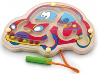 VIGA Wooden Toys - Magnetic Bead Trace (Car)