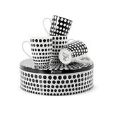 Maxwell & Williams - Speckle Black Mug Set of 4 with Cake Tin (400ml)