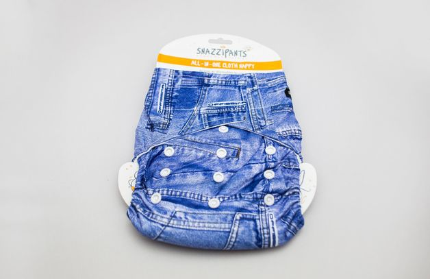 Snazzipants: All in One Reusable Nappy - Denim