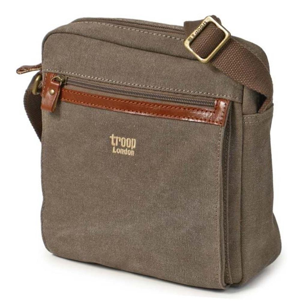Troop London: Classic Zip-Top Body Bag - Brown image