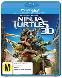 Teenage Mutant Ninja Turtles on Blu-ray, 3D Blu-ray