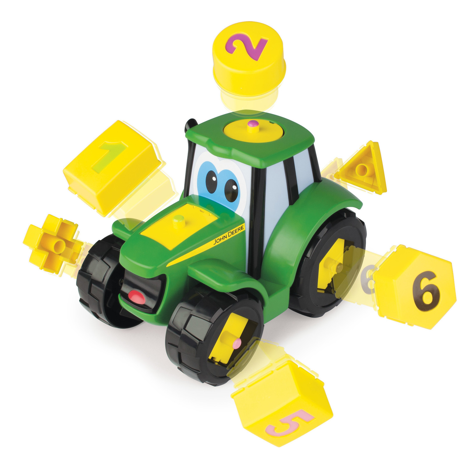 John Deere: Learn N Pop Johnny - Shape Sorting Playset image